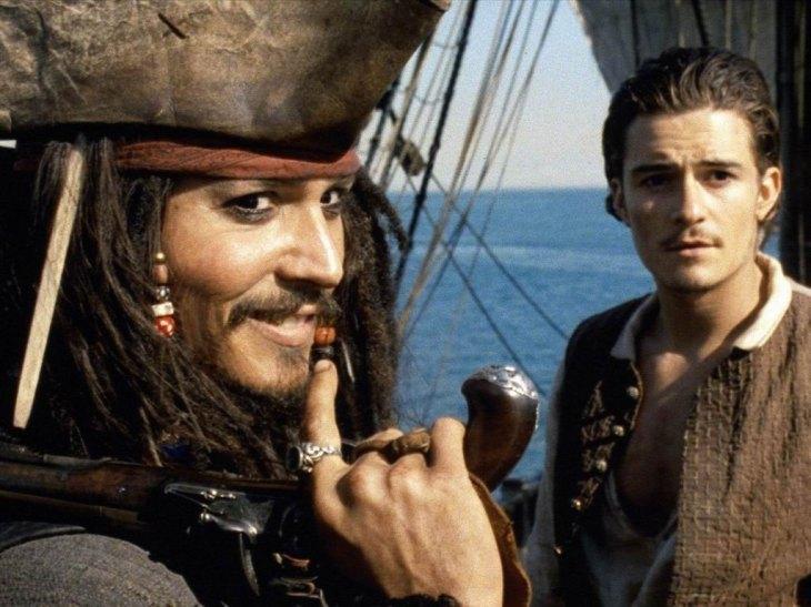 """Johnny Depp, em """"Piratas do Caribe: A Maldição do Pérola Negra"""""""